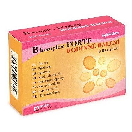 Rosen B-komplex FORTE dražé 100 rodinn