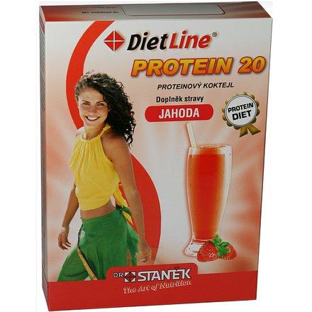 DietLine Protein 20 Koktejl Jahoda 3 sáčky