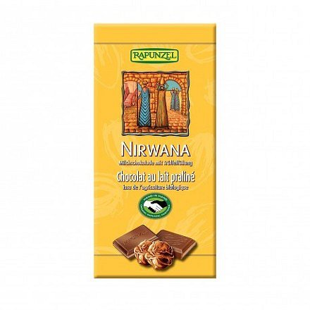 Čokoláda Nirwana mléčná BIO 100 g Rapunzel*