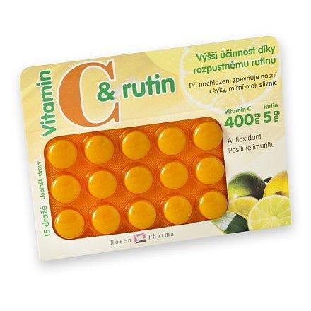 Rosen C+rutin 400 mg dražé 15