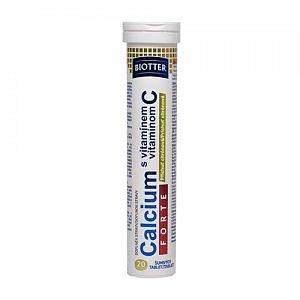Biotter Calcium Forte s vitamínem C eff 20 (citrón)