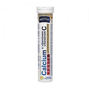 Biotter Calcium Forte s vitamínem C eff 20 (pomeranč)