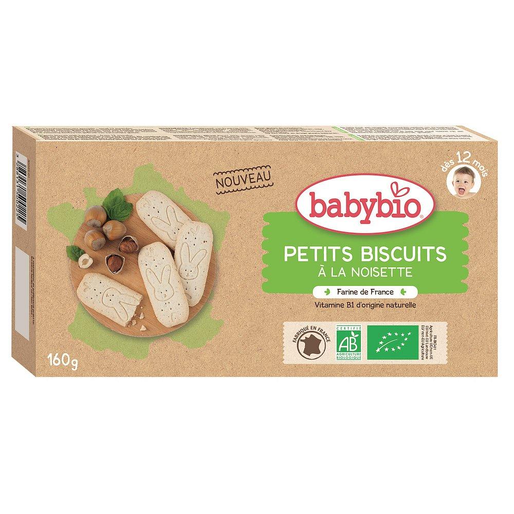BABYBIO Sušenky Lískový ořech 160 g