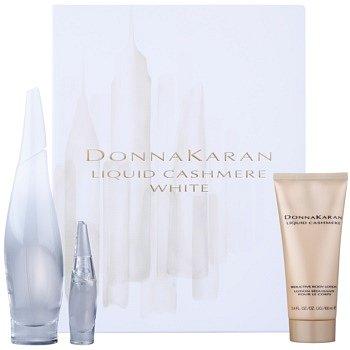DKNY Liquid Cashmere White dárková sada I. parfémovaná voda 100 ml + parfémovaná voda 7 ml + tělové mléko 100 ml