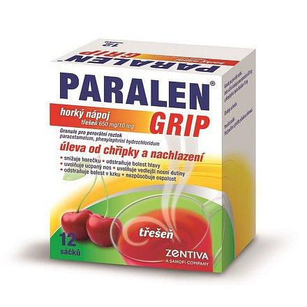 Paralen grip horký nápoj Třešeň 12 sáčků
