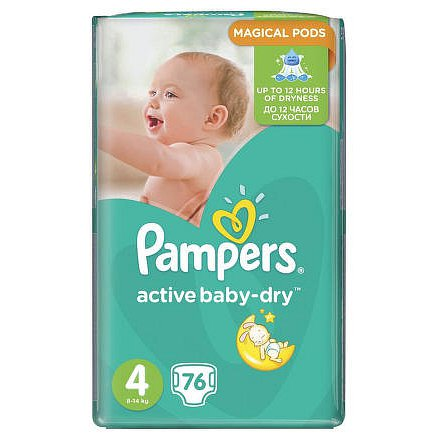 Pampers jedn.plenky ActBaby GP Maxi 76 ks