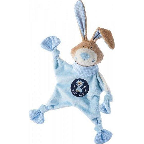 SIGIKID Muchláček znamení LEV modrý zajíc, 19 cm