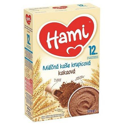 Hami kaše obilno-mléčná krupice s kakaem 225g 12M