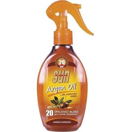 Opalovací mléko s arganovým olejem OF 20 rozprašovací 200ml