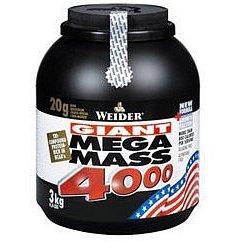 Weider, Giant Mega Mass 4000, Gainer, 3000 g, Čokoláda