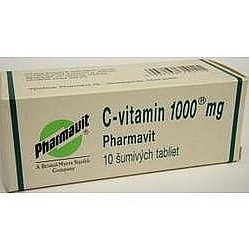 C-vitamin 1000 Pharmavit perorální tablety šumivé 10 x 1000 mg