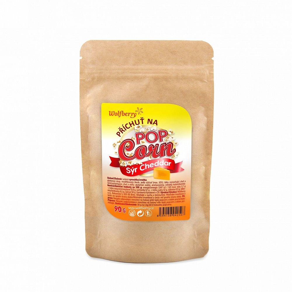 WOLFBERRY Příchuť na popcorn Sýr Cheddar 90 g