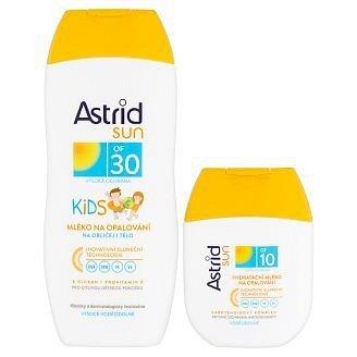 ASTRID SUN dětské opal.mléko OF30 200ml+ OF10 hydratační mléko 80ml