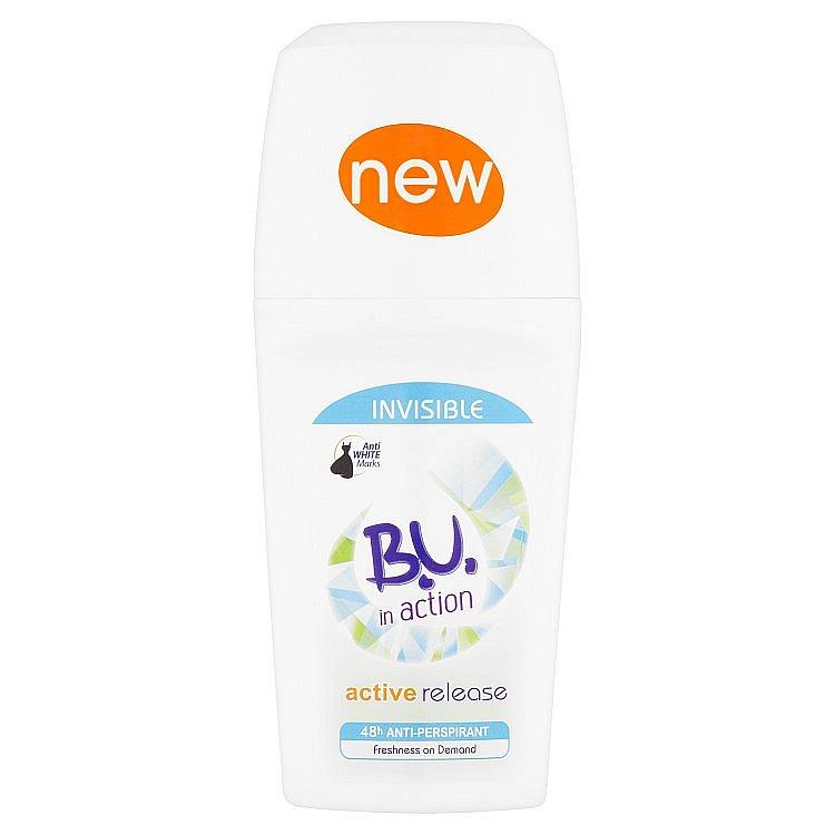 B.U. In Action Active Release kuličkový antiperspirant 50 ml