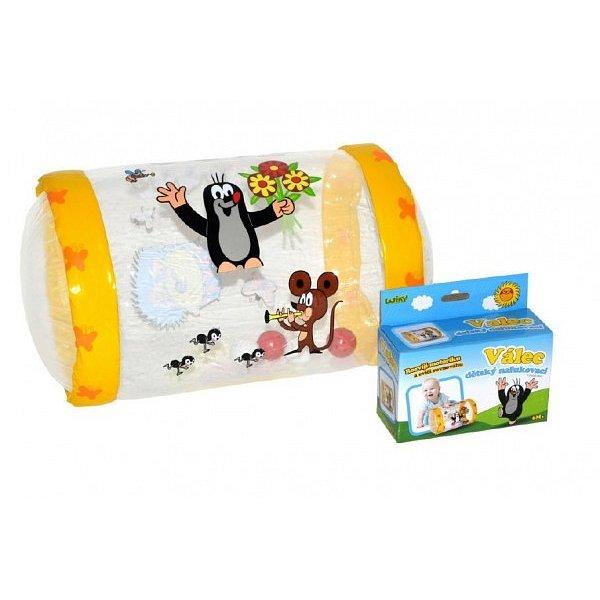 Wiky Válec s rolničkou Krtek plast nafukovací v krabičce 6m+