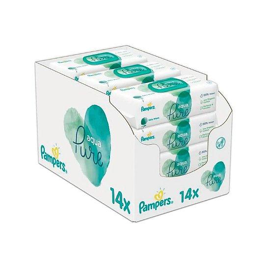 14x PAMPERS Aqua Pure 48 ks - dětské čisticí ubrousky