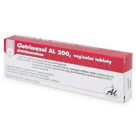 Clotrimazol AL 200 vaginální tablety 3ks + aplikátor