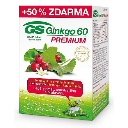 GS Ginkgo 60 Premium tbl. 60+30