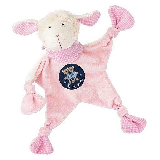 SIGIKID Muchláček znamení BLÍŽENEC růžová ovečka, 19 cm