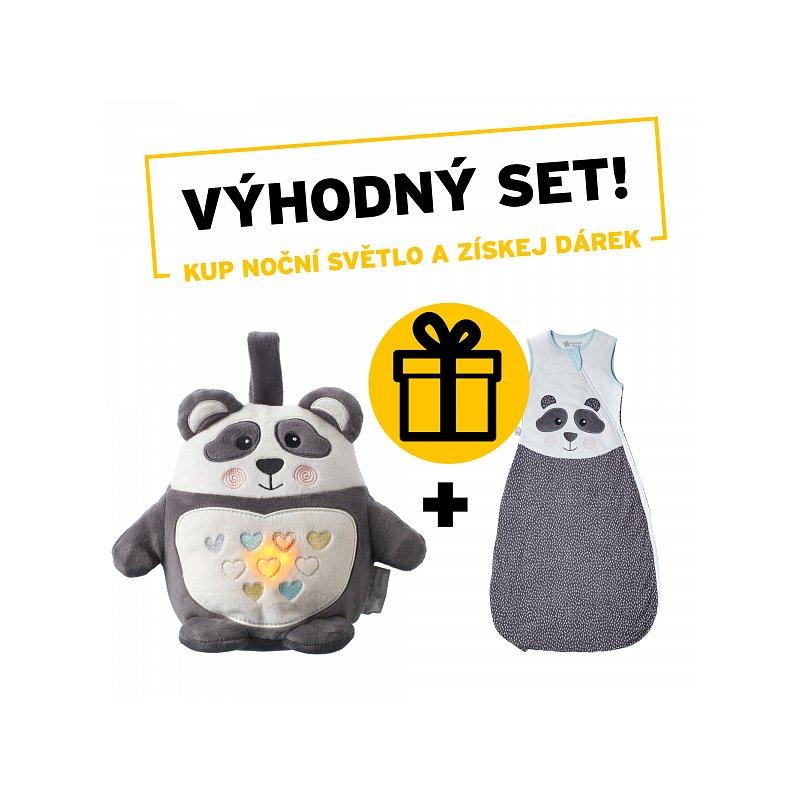 Tommee Tippee Noční světlo s hudbou Grofriend Pip the Panda + dárek