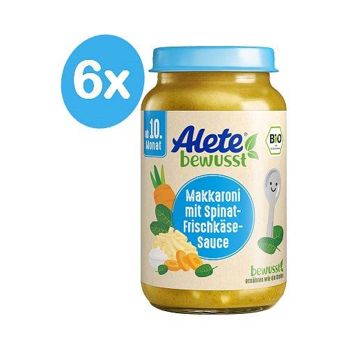 Alete BIO Příkrm zelenina s makaróny a sýrem 10m+ 6x220 g