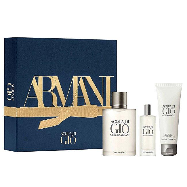 Armani Acqua Di Gio - EDT 100 ml + sprchový gel 75 ml + EDT 15 ml