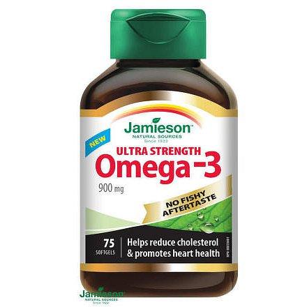 JAMIESON Omega-3 ULTRA 900mg cps.75