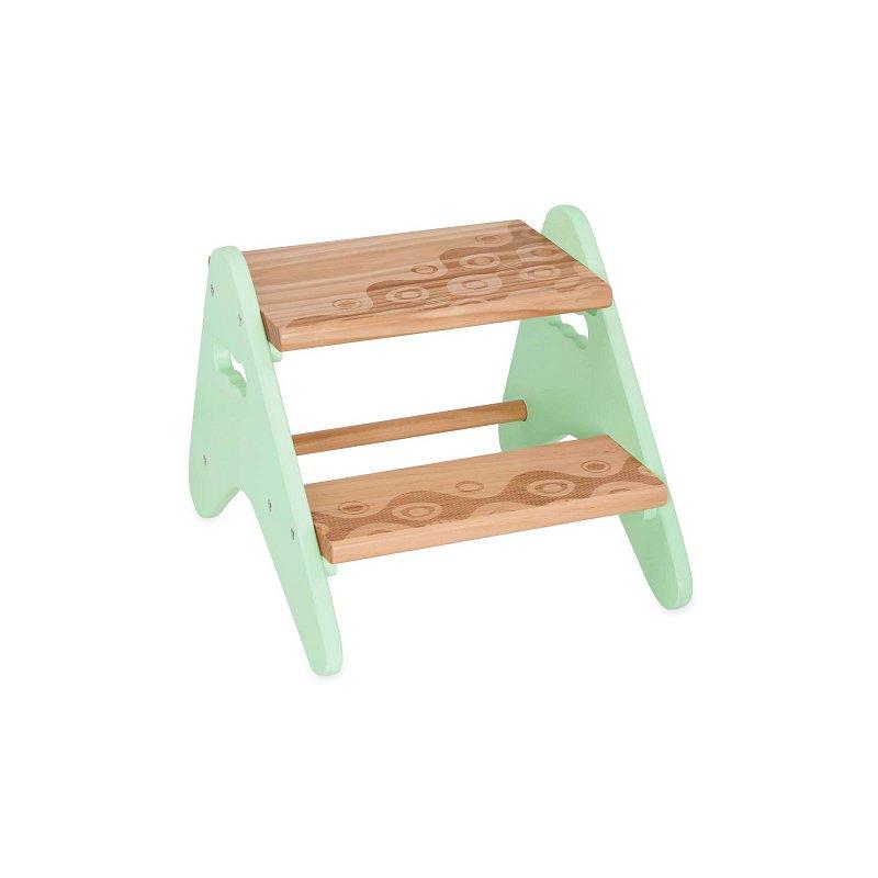 B-Toys Schůdky dřevěné Mint