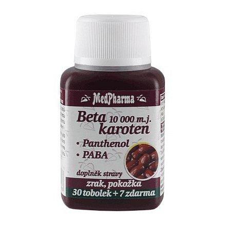 MedPharma Beta karoten 10,000 m.j. s Panthenolem + PABA, 37 tbl.