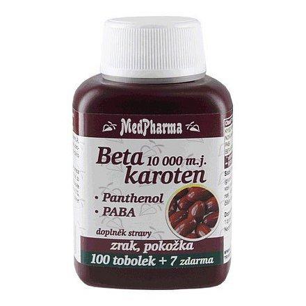 MedPharma Beta karoten 10,000 m.j. s Panthenolem + PABA, 107 tbl.