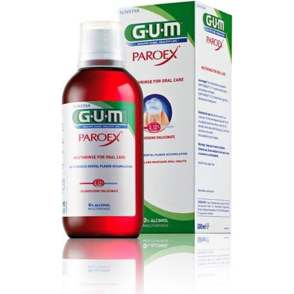 G.U.M ústní voda Paroex 0.12% 300ml B1784, poškozený obal