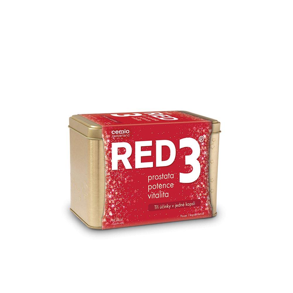 CEMIO RED3 Prostata, vitalita, potence v plechové krabičce 90 kapslí