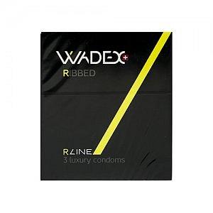 WADEX Ribbed kondomy 3ks