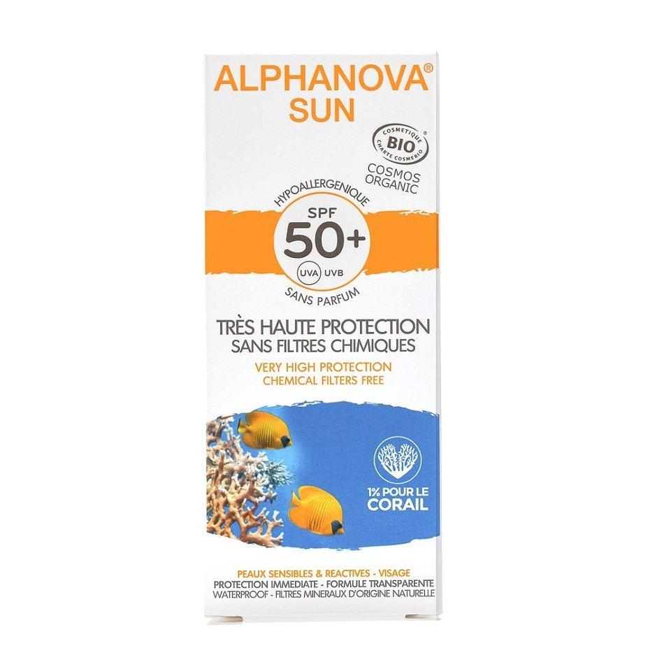 Alphanova SUN BIO Opalovací krém na obličej SPF50+ 50 g