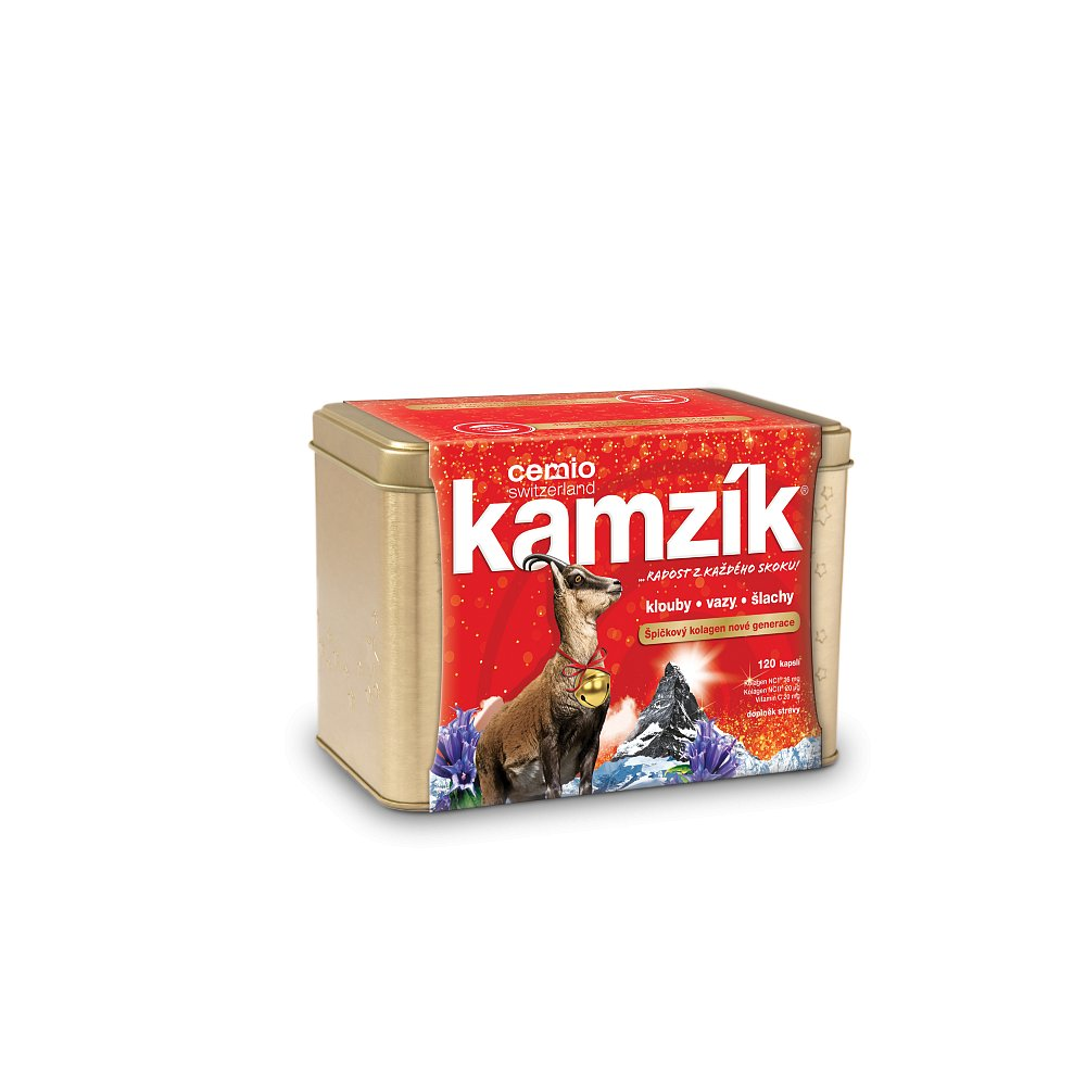 CEMIO Kamzík klouby, vazy, šlachy v plechové krabičce 120 kapslí