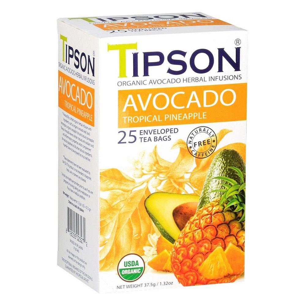 TIPSON Avocado Tropical Pineapple bylinný čaj BIO 25 sáčků