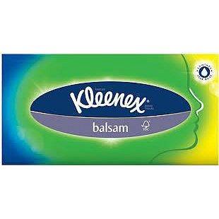Kapesník papírový KLEENEX Balsam Box 80ks