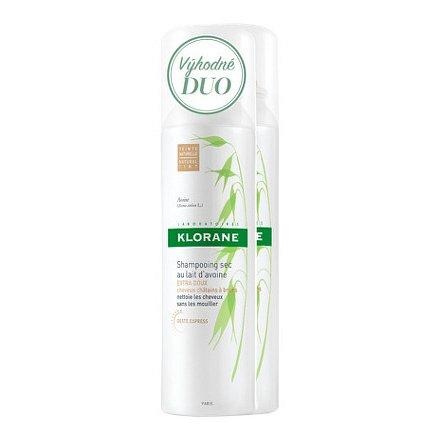 KLORANE Suchý šampon oves-tmavé vlasy 150ml DUO