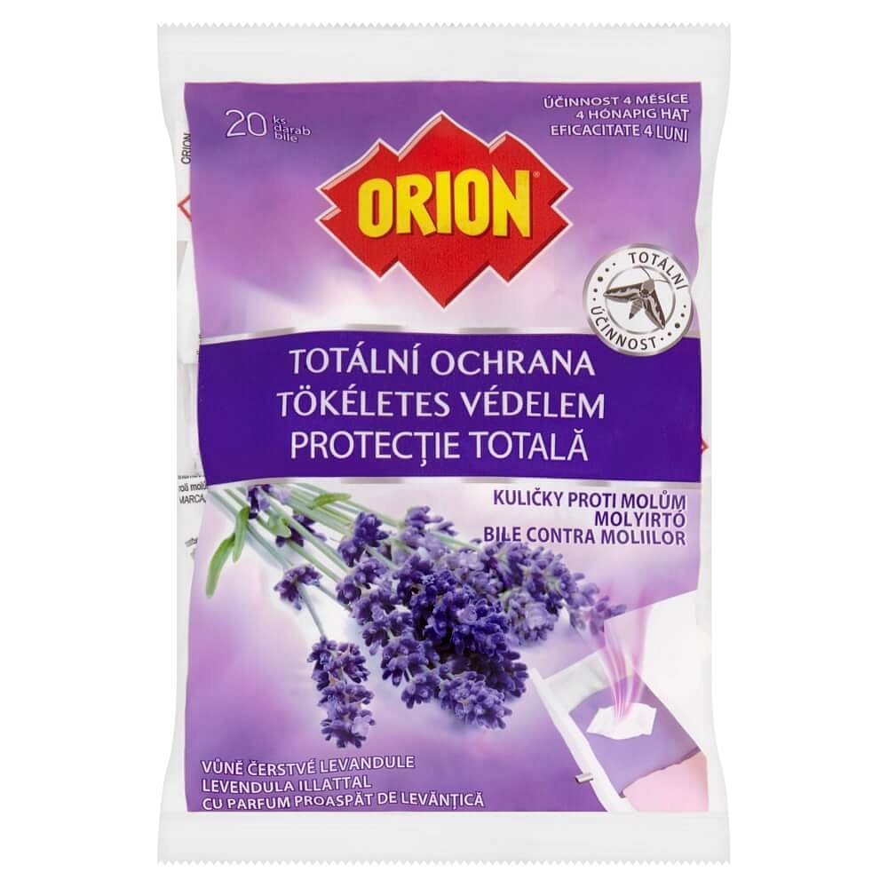 Orion kuličky proti molům 20ks Levandule