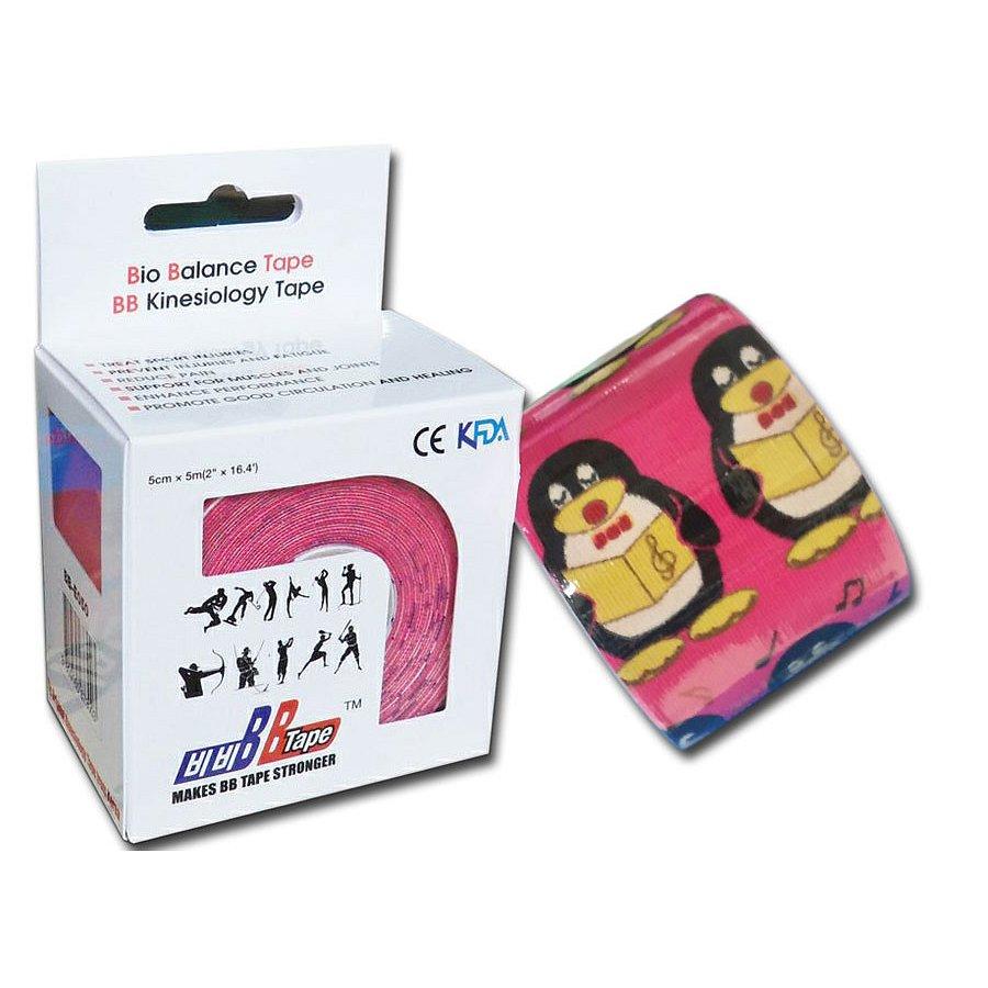 BB tejpy pro citlivou pokožku s dětským designem - tučňák růžový