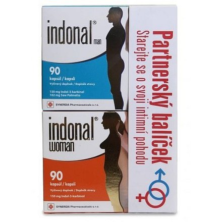 Partnerský balíček Indonal Woman 90 kapslí + Indonal Man 90 kapslí