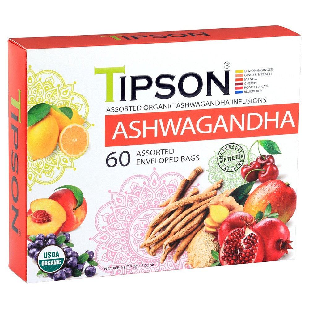TIPSON Ashwagandha Assorted  bylinný čaj BIO 60 sáčků