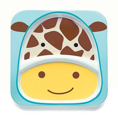 SKIP HOP Zoo Talířek 2v1 Žirafa