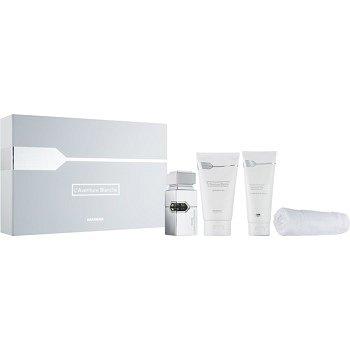 Al Haramain L'Aventure Blanche dárková sada I.  sprchový gel 150 ml + balzám po holení 100 ml + parfémovaná voda 30 ml + ručník 1 ks