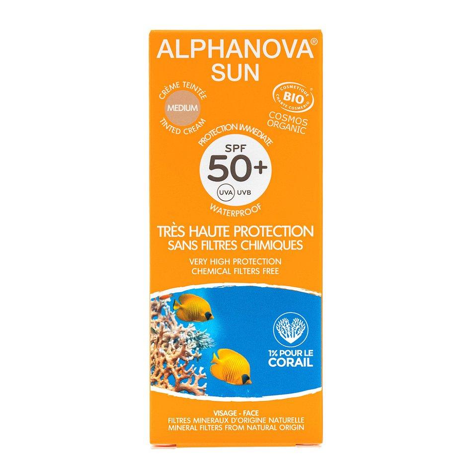 Alphanova SUN BIO Opalovací krém tónující SPF50+ 50 g