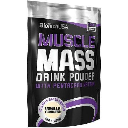 BioTech USA Muscle Mass Jahoda 1000g