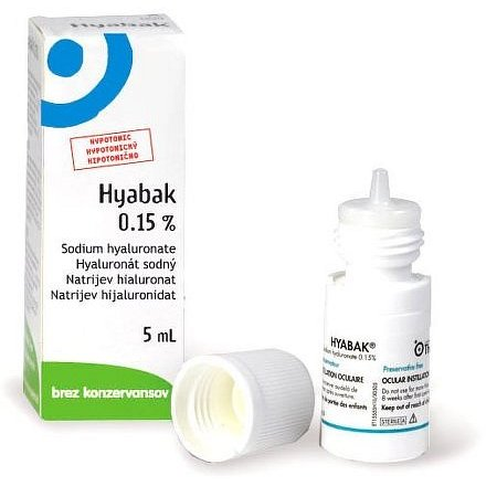 Hyabak 0.15% oční kapky 5ml