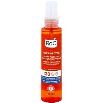 RoC Soleil Protect transparentní ochranný sprej proti stárnutí pokožky SPF 30 150 ml