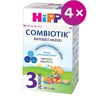 HiPP 3 JUNIOR Combiotik mléko 4x500g