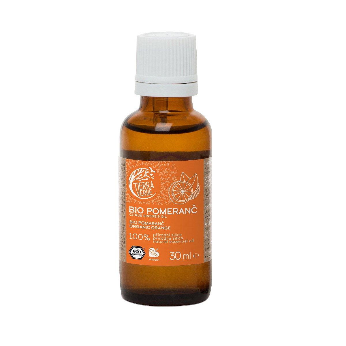 Tierra Verde Silice BIO Pomeranč 30 ml